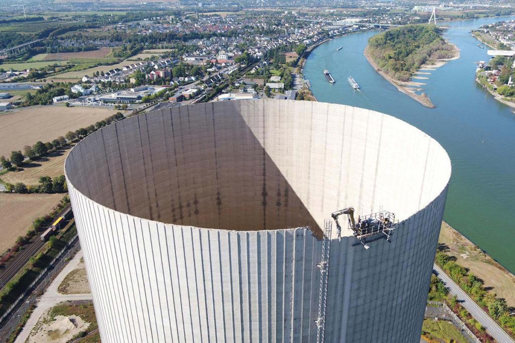 MB Spezialabbruch - Projekte: AKW Mülheim-Kärlich, Rückbau Naturzugkühlturm