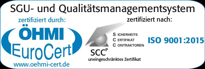 ÖHMI EuroCert GmbH - SCCP-Zeichen - SGU- und Qualitätsmanagementsystem