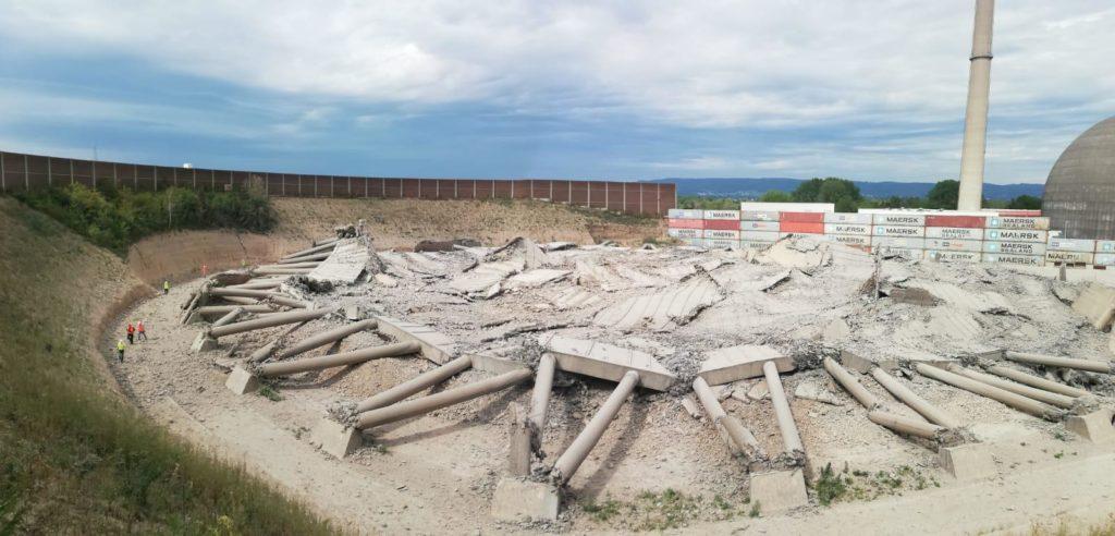 MB Spezialabbruch - Projekte: AKW Mülheim-Kärlich, Reste des Kühlturms