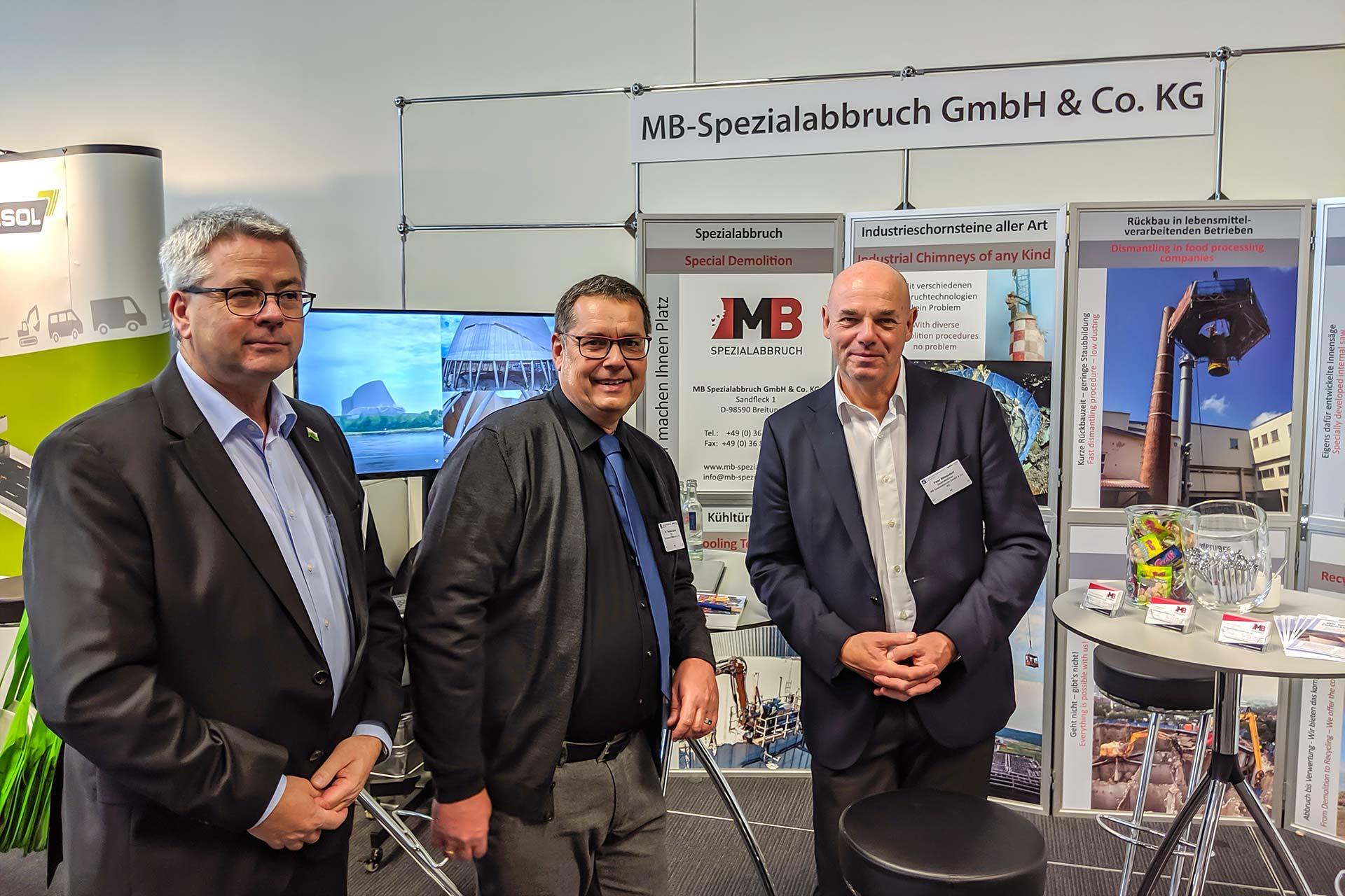 MB Spezialabbruch auf dem 2. Construction Equipment Forum in Mannheim - A. Kaschadt und P. Mittelsdorf
