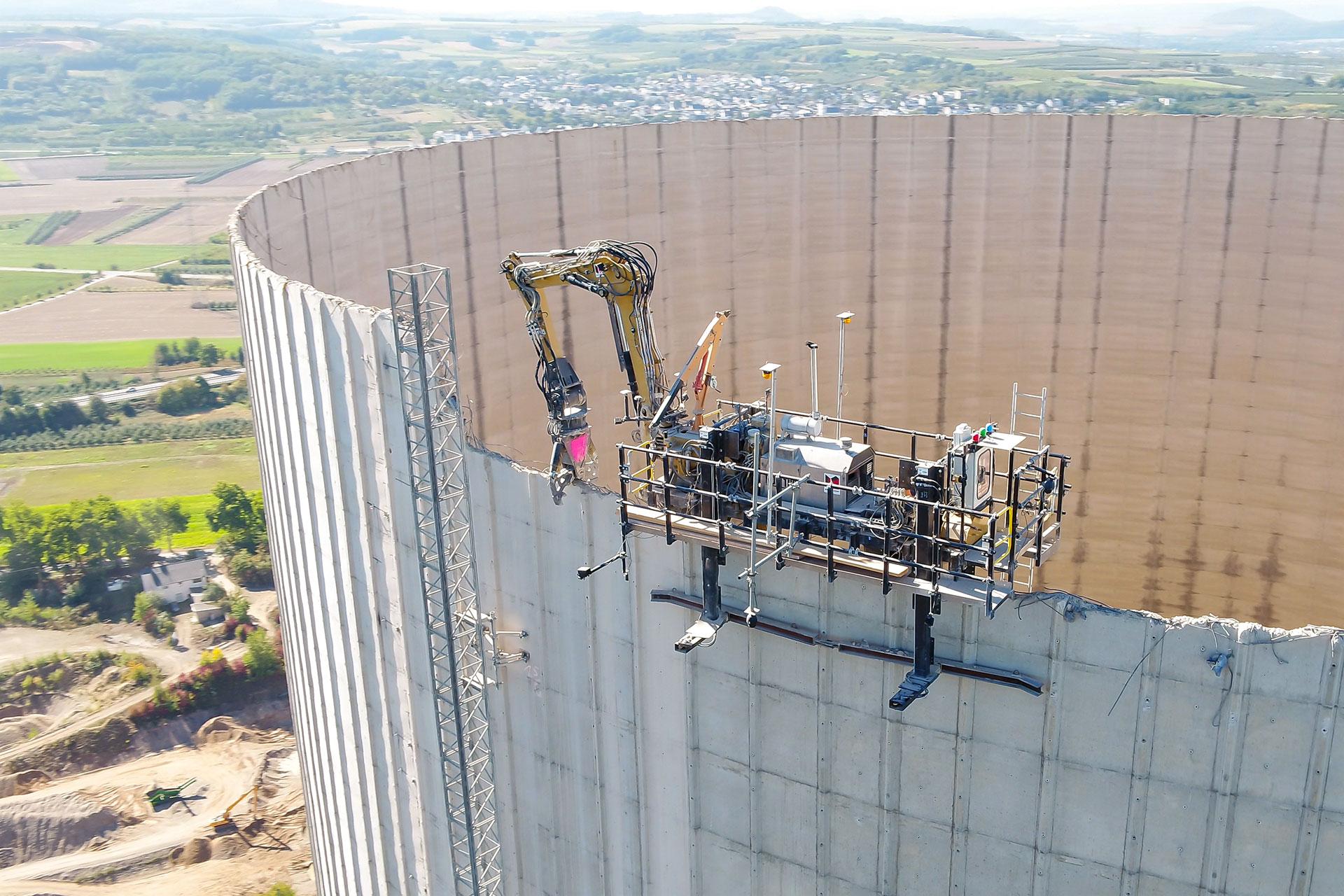 Maßgeschneiderte Abbruchgeräte für besonders heikle Projekte: Der RDB 100 entstand in eigener Entwicklung
