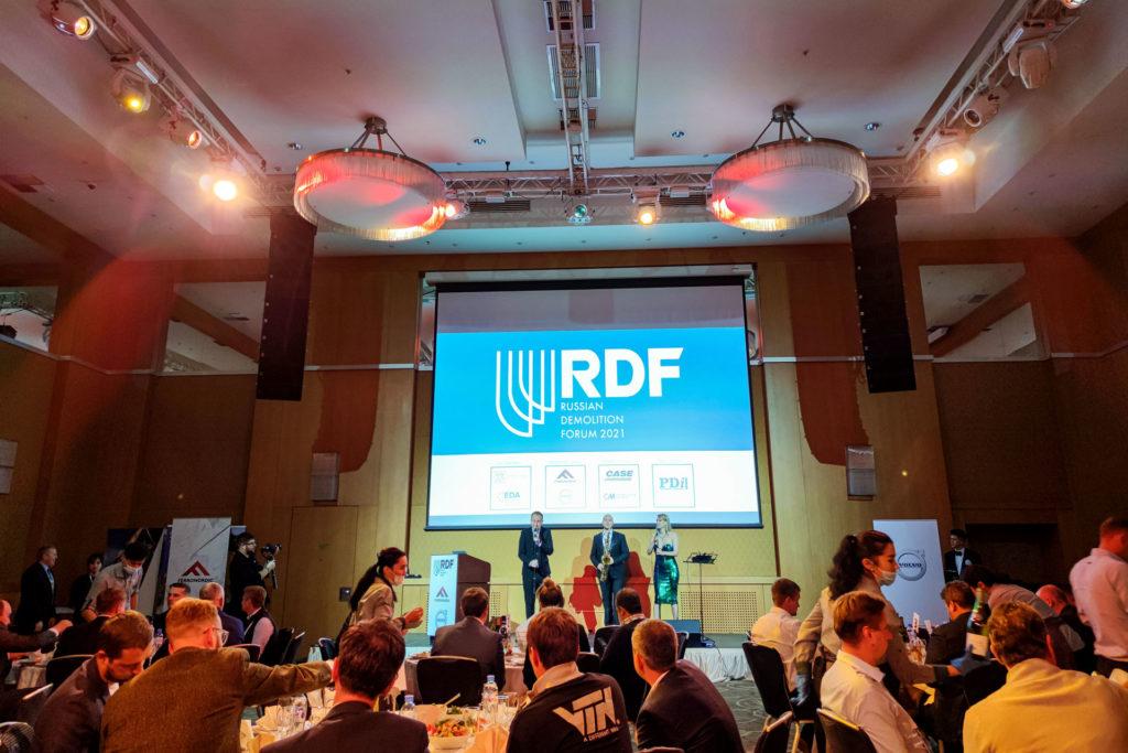 MB Spezialabbruch beim Russian Demolition Forum in Moskau - Dinner